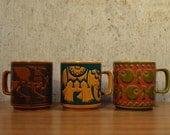 Vintage Mug Hornsea England ....Fish Pattern