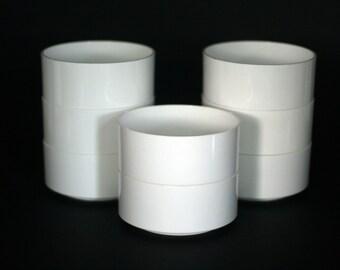 vintage heller cereal bowls by massimo vignelli set of eight