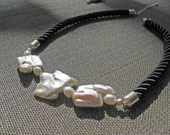 Corded Pearl Necklace