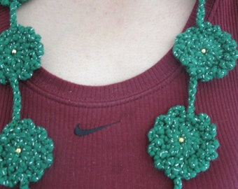 Hunter green and gold pure-Warm Jewelry Necklace