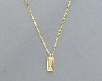 Gold Plated Initial E Necklace