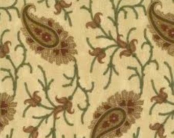 Wrapped in Paisley- large paisley on cream - Kansas Troubles fabric - Moda - OOP VHTF