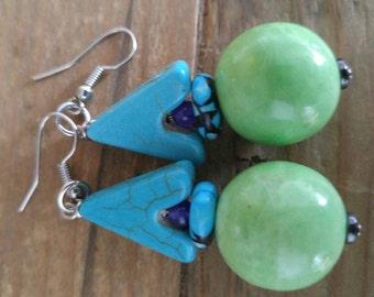 upward green earrings by rebelle