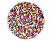 RAINBOW NONPAREILS Edible Sprinkles Cakepops Cupcake CandyConfetti Decorations 2oz.