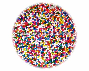 RAINBOW NONPAREILS Edible Sprinkles Cakepops Cupcake CandyConfetti Decorations 2oz.
