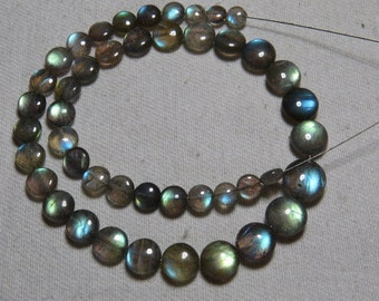 Labradorite - High Quality - AAAAA - Smooth Polished Coin shape Briolletes so Amazing Gorgeous Multy Fire Huge size - 4.5 - 8.5 mm - 45 pcs