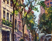 From 92nd and Fifth, Morning Light NYC. 9x12 Oil on Canvas, Impressionist Cityscape, New York City Painting, Signed Original Fine Art
