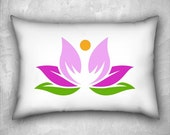 Lotus Flower Pillow Cover