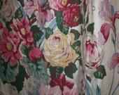 Stunning fine linen antique drape