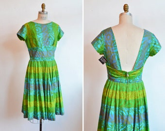 Vintage 1950s HAWAII day dress