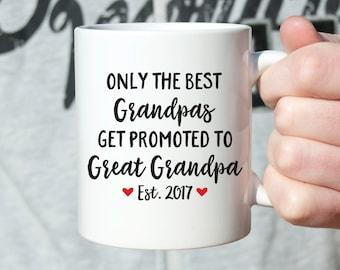 Great Grandpa Gift Pregnancy Announcement Great Grandpa Mug Pregnancy Reveal Great Grandparents Pregnancy Announcement Ideas Coffee Mug Cute