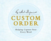 Custom Order for Laura: Set of 70 Engagement Party/Shower Invitations