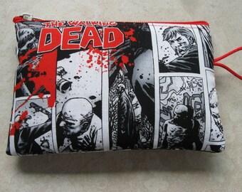 zombie strip print padded zipper bag
