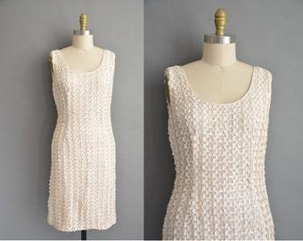 50s full sequin vintage cocktail wiggle dress / vintage 1950s dress