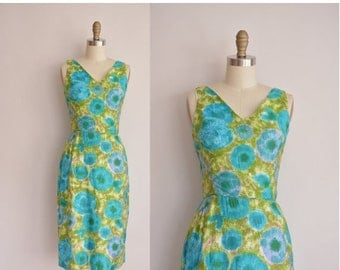 Anniversary SHOP SALE... 1950s dress/vintage 50s dress/ 50s cotton dress by Fritzi