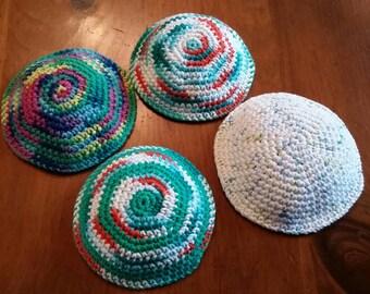 100% cotton crocheted kippah/yarmulke
