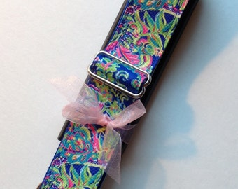 Colorful Ferns Adjustable Violin Case Instrument Strap with Shoulder Pad by Cheryls Bowtique, viola, guitar, music, luggage