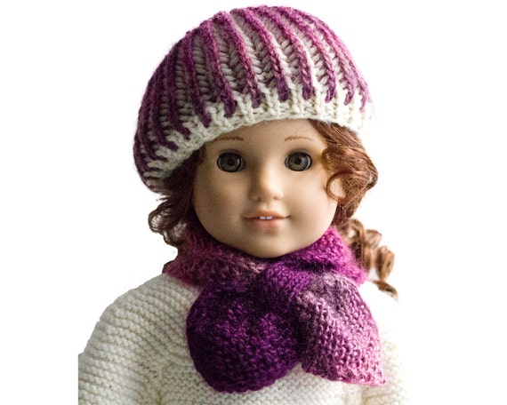 Knitting Pattern - for American Girl dolls - 18 inch doll Clothes - Doll Wint...