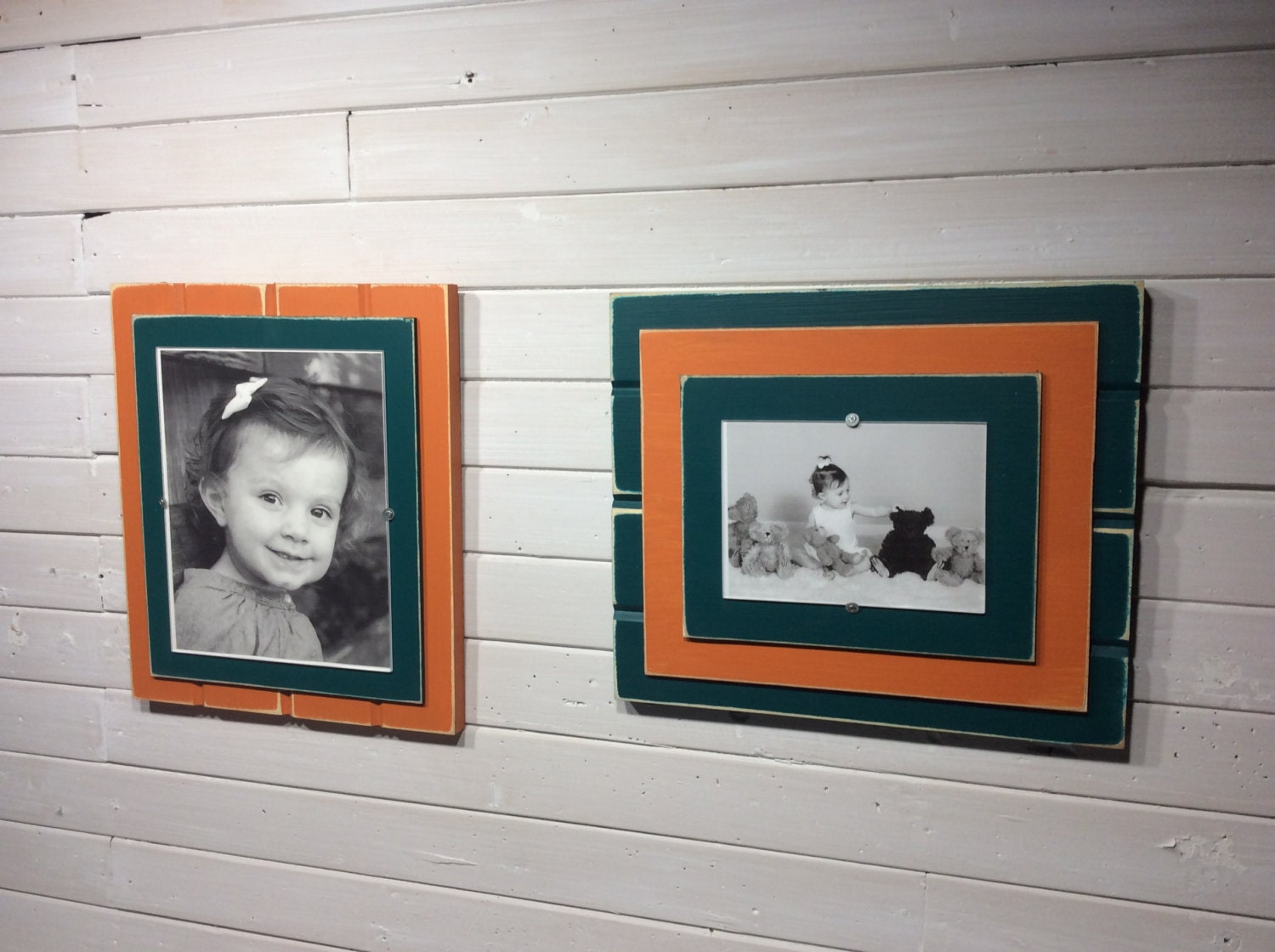 Aqua and orange picture frame holds 5x7 or 8x10 miami dolphins sold by kdcobbleshop jeuxipadfo Image collections