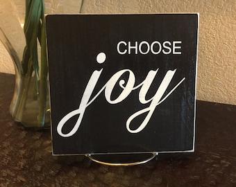 Choose Joy Wood Sign