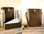Wine Tote  //  Picnic Bag  //  Leather LunchBox Satchel  //  THE BRITT