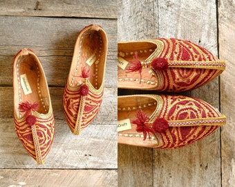 Khussa Shoes Size 8  //  Persian Slippers Sz 38.5 //  THE ALADDIN