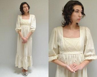 Peasant Wedding Dress  //  Boho Wedding Dress  //  THE SERENADE