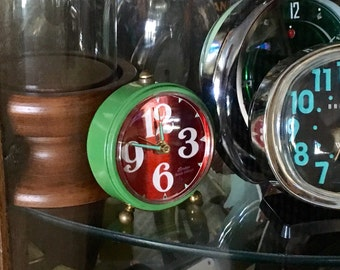 Vintage LINDEN Black Forest Windup Alarm Clock / West Germany / Non-Working
