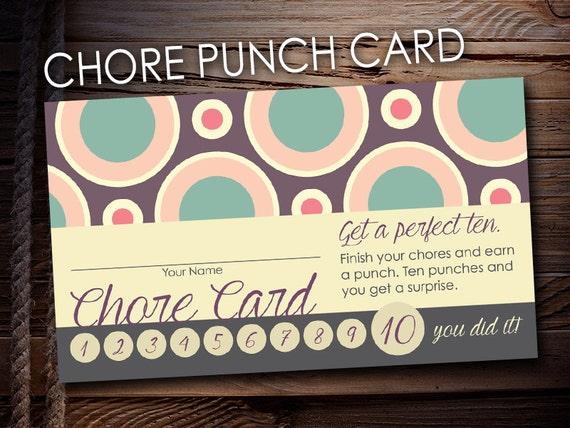 Printable Chore Card