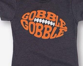 Gobble Gobble Football Tee