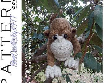 INSTANT DOWNLOAD : Marcelo the Monkey Crochet Pattern