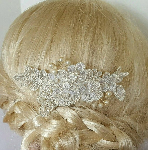 Bridal hair comb wedding comb decorative comb by kathyjohnson3 - Decorative hair slides ...