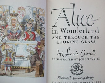 Vintage Book-Alice In Wonderland AND Through the Looking Glass, 1946