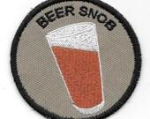 Beer Snob Geek Merit Badge Patch