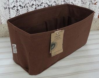 14 x 6 x 7H / READY to ship / Purse Organizer insert Shaper / BROWN / Sturdy & Durable / Rectangular / With stiff wipe-clean bottom
