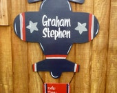 Airplane Baby Hospital Wood Door Hanger or Room Decor Wall Art for a Boy or Girl