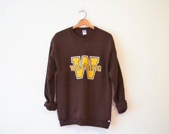 Vintage Brown University of Wyoming Cowboys Sweatshirt
