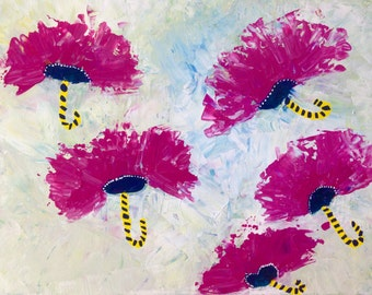 Dancing Flowers Abstract Art Print