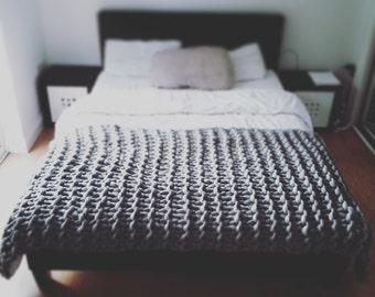 Chunky Knit Throw Merino Wool Blanket Christmas UK seller