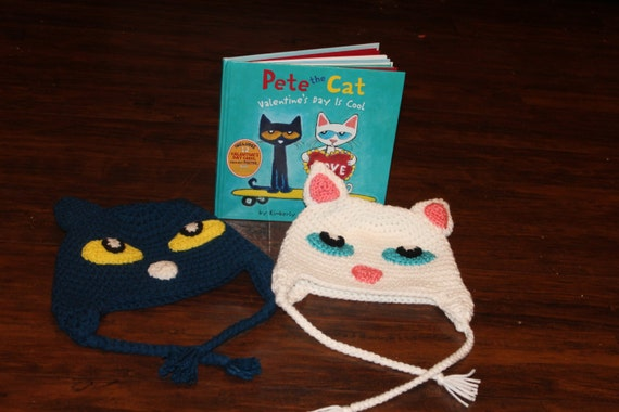 Made to order crochet Callie and Pete the cat Hat: Pete and