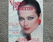 Vogue Patterns Magazine March/April 1979  96 Pages of Fashion Photography, Ads, and Articles