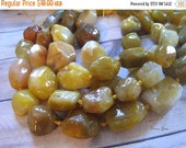 """30% OFF SALE 16"""" long Yellow Agated Graduate Nugget Beads, Gemstone Beads"""