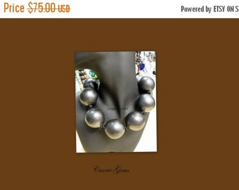 20% OFF ON SALE Black Ceramic 35mm Round Beads Necklace