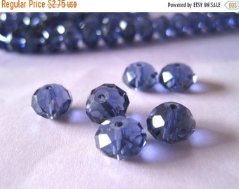 20% OFF ON SALE Amethyst Purple Faceted Rondelle Glass Beads 10mm, 20 pieces