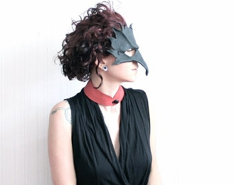 red choker | leather collar necklace | women's leather bdsm collar | choker collar | red leather jewelry | red bib necklace | goth choker