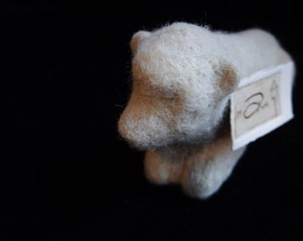 Cow Sculpture - 100% alpaca wool - Needle felted - Minimalist, stylized, like a modern marble carving