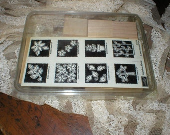 Stampin' Up GARDEn BLOCKS New in Box & Un-mounted Beautiful 2003 Retired