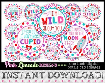 "I Don't Need Cupid - INSTANT DOWNLOAD 1"" Bottle Cap Images 4x6 - 885"