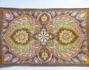 Vintage Irish linen tea towel Assam Tulips