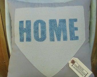LighGray Home Plate Pillow